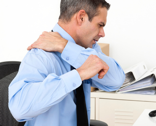 Shoulder pain at work
